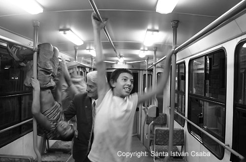 Wicked boys on the tram nr. 24, Budapest